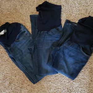 LOT of 3 Pairs of Maternity Jeans